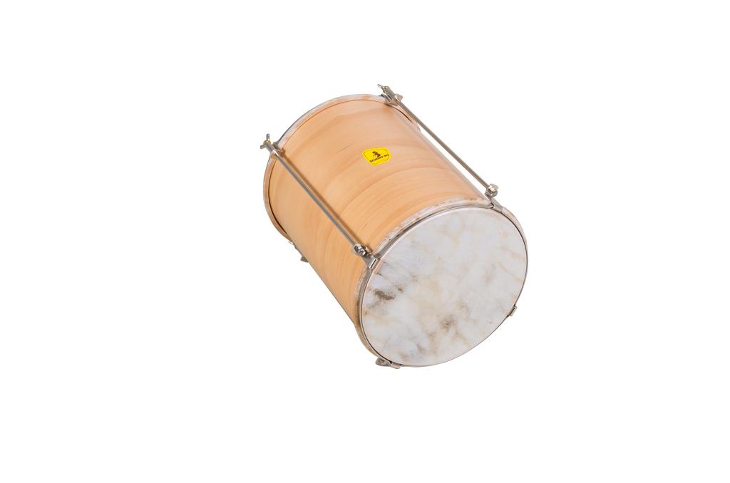 Ruční buben s dvojitou blánou, kůže